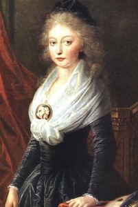 The sole survivor. Portrait of Marie Thérèse of France by Heinrich Furger.