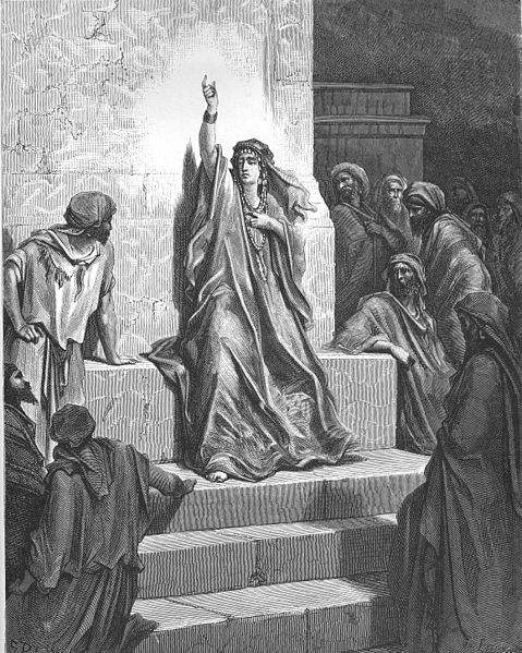 """Deborah Praises Jael"" by Gustave Dores"