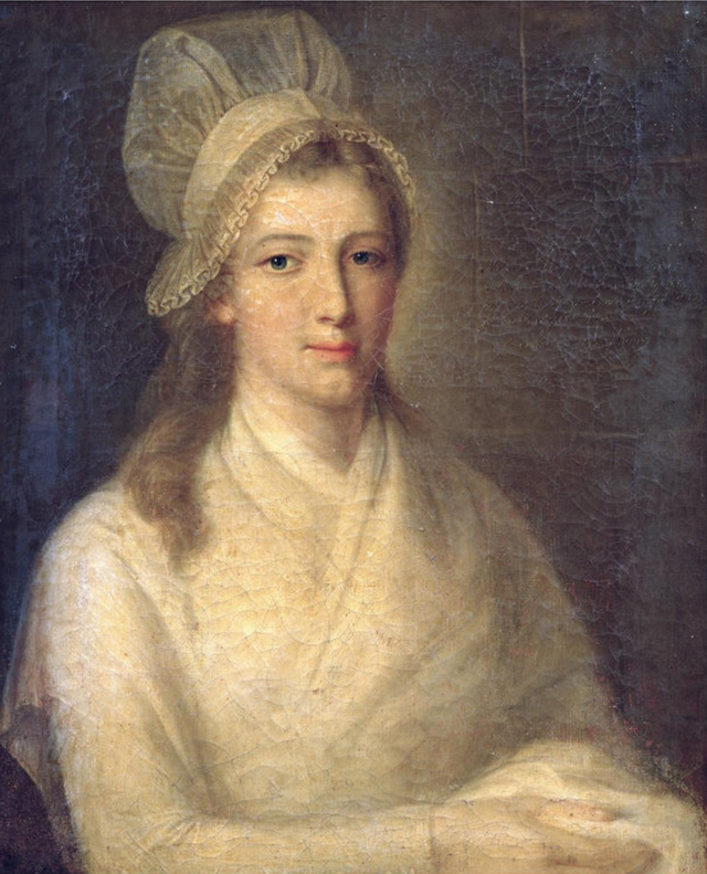 """Charlotte Corday"" by Jean-Jacques Hauer. This portrait was done in prison at her request."