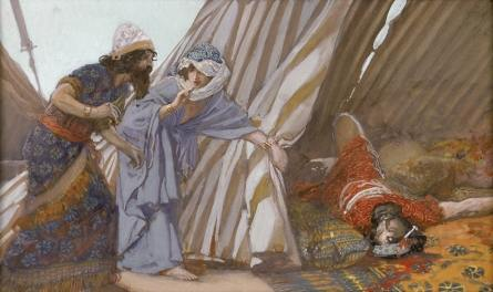"""Jael Shows to Barak Sisera Lying Dead"" by Tissot"