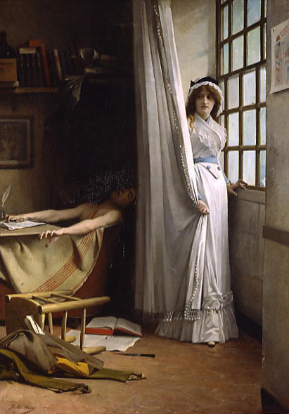 Charlotte Corday et Marat by Jules Aviat 1880