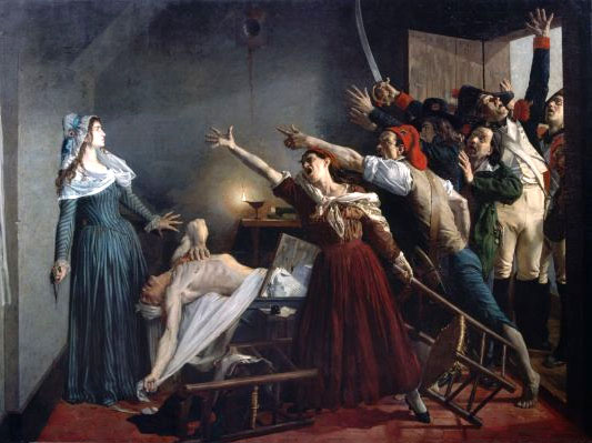 L'Assassinat de Marat by Jean-Joseph Weerts