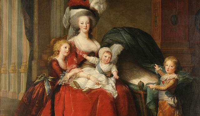 Marie-Antoinette with her children by Élisabeth Vigée-Lebrun.