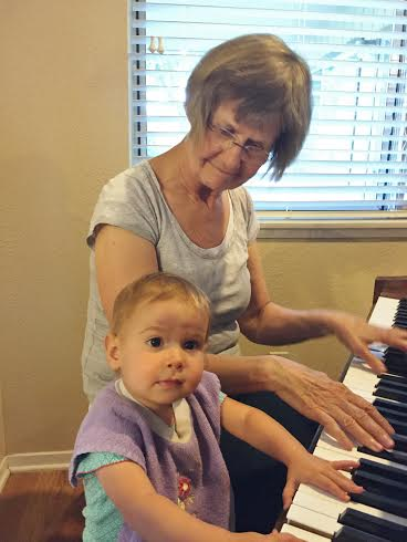 I'm honored my favorite pianist happens to my mom. She could have made bucks but continues to share her expertise and expression music with others. Here she is teaching a grandchild.