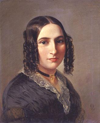 Portriat of Fanny Hensel 1842 by Moritz Daniel Oppenheim