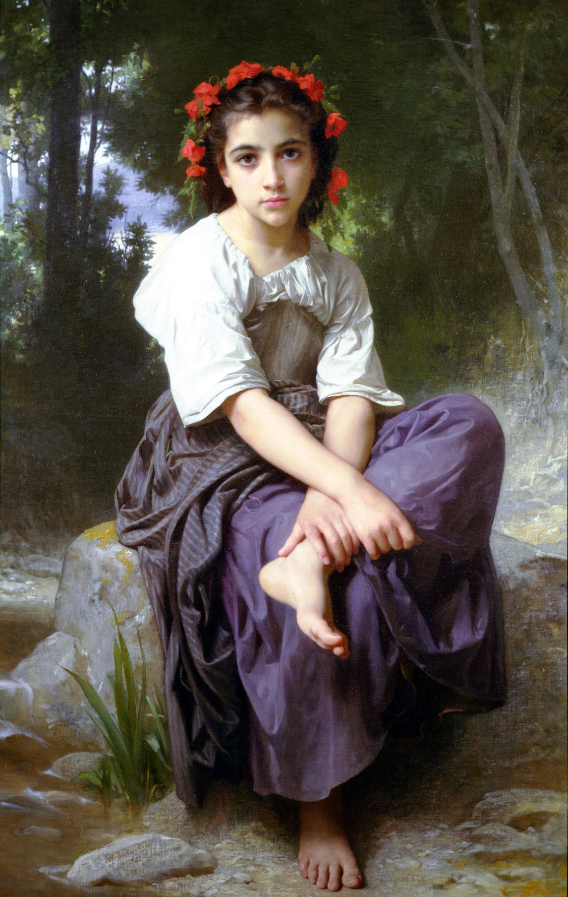 Huge picWilliam-Adolphe_Bouguereau_(1825-1905)_-_At_the_Edge_of_the_Brook_(1875)
