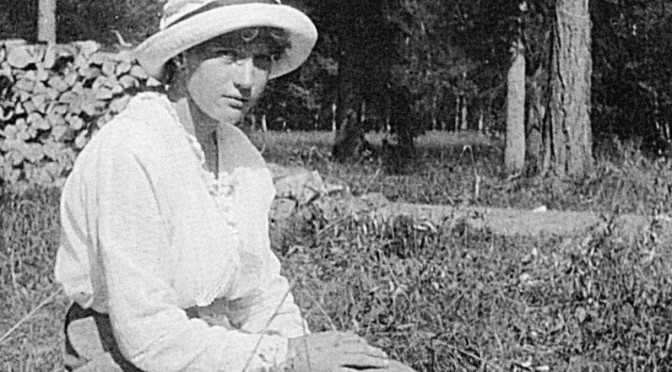 Anastasia Nikolaevna in captivity at the Park of Tsarskoe Selo